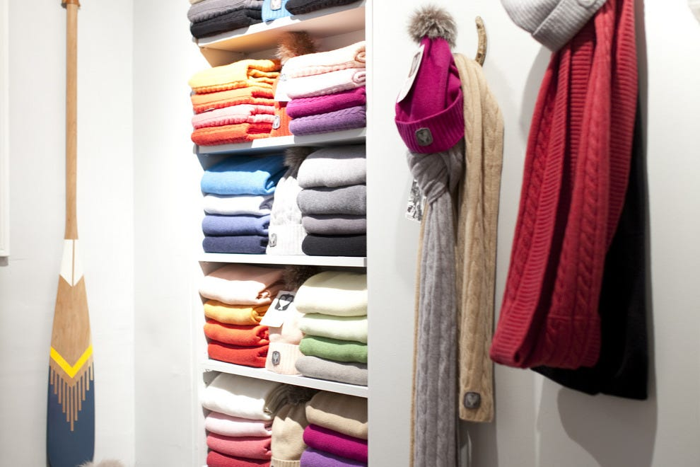 The pop-up shop has cashmere galore