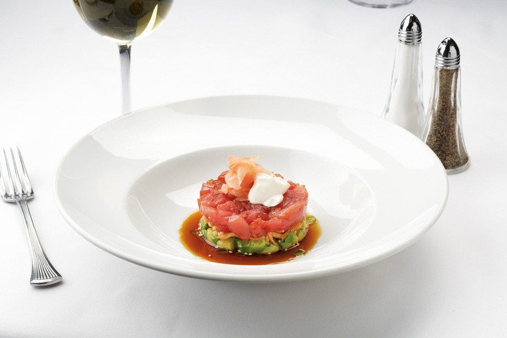 Ocean Prime's ahi tuna tartare, with avocado and ginger ponzu