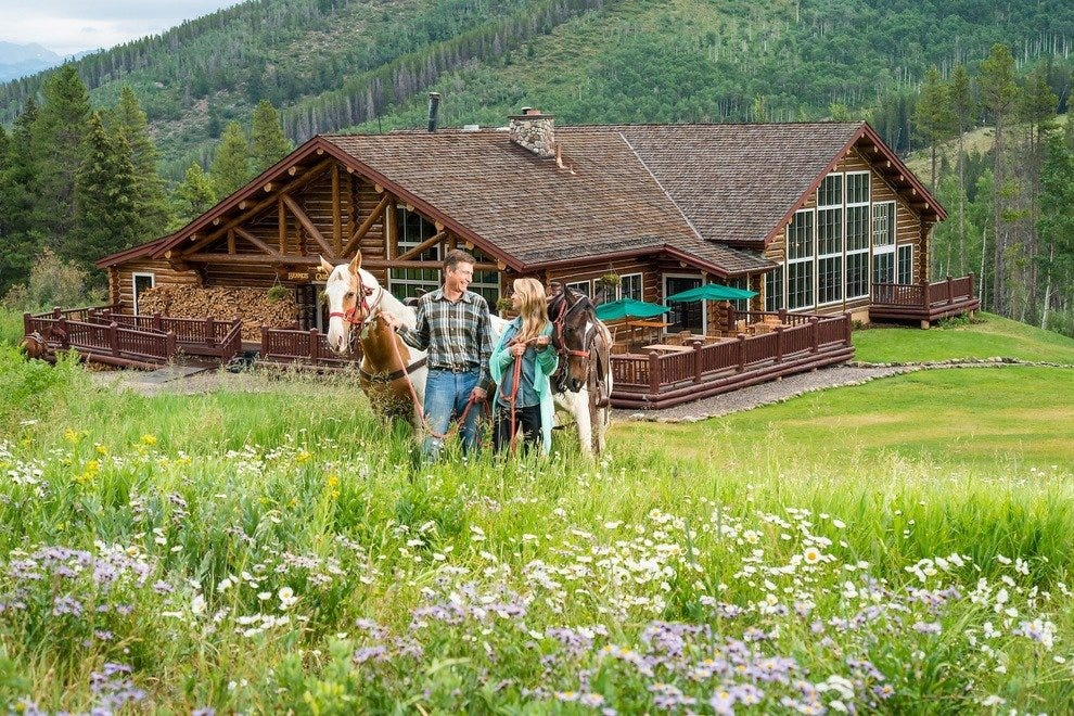 A horseback ride to Beano's Cabin is a destination highlight in Beaver Creek.