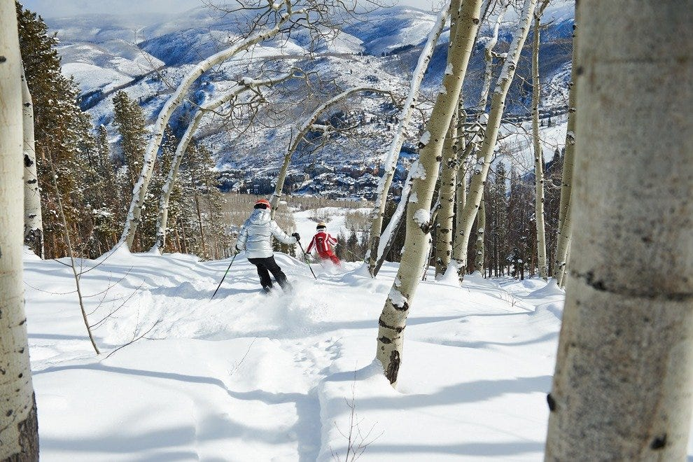 Beaver Creek offers 150 different skiing trails.