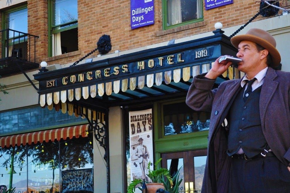 Hotel Congress' Dillinger Days event commemorates the famous capture of bank robber John Dillinger at the hotel back in 1934