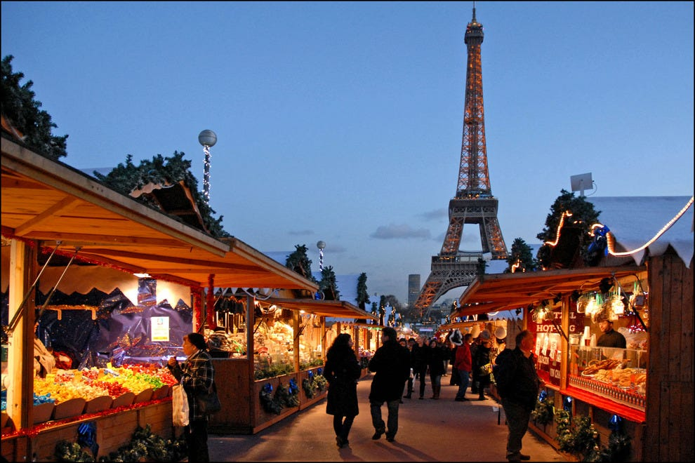 Paris' Christmas market at Trocadéro