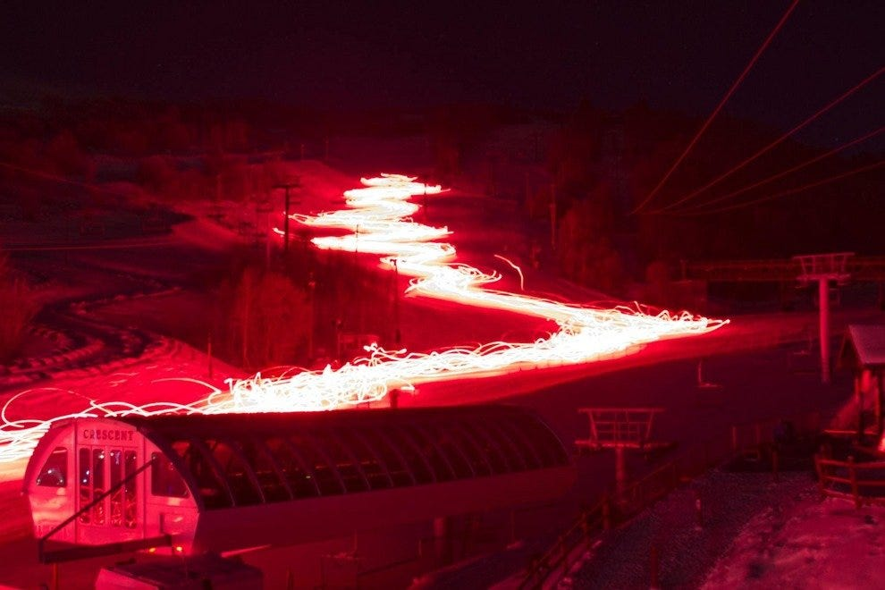 Torchlight Parade at Snowbird Resort