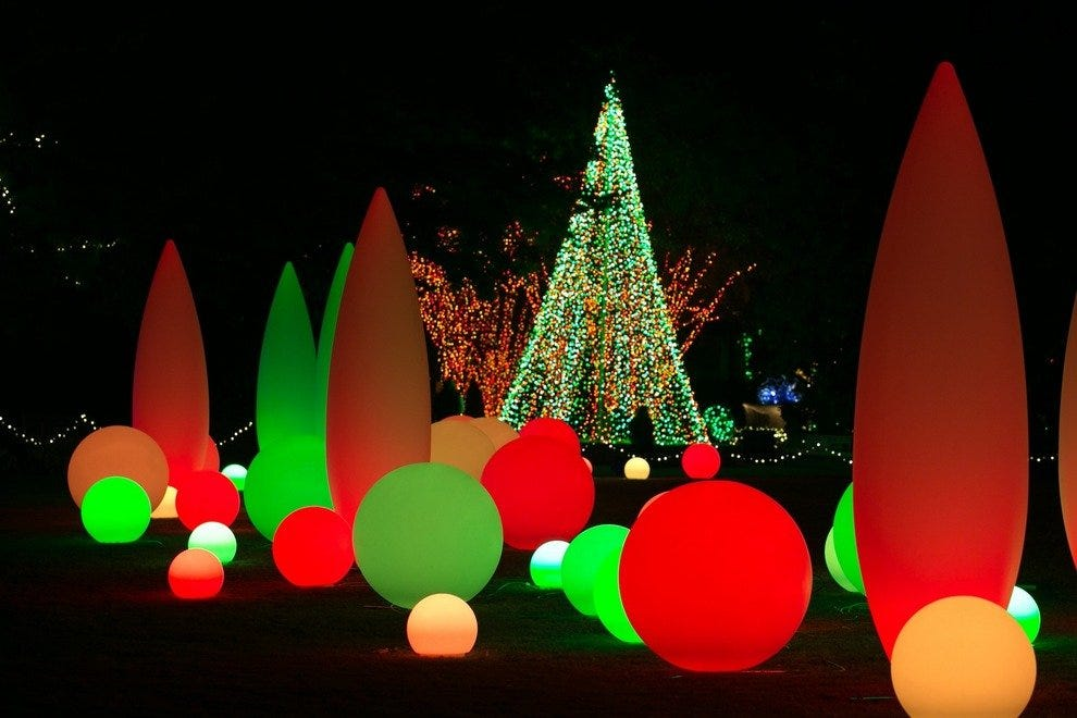 Orchestral Orbs at Garden Lights