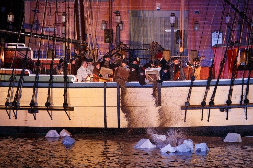 Boston Tea Party re-enactment celebration