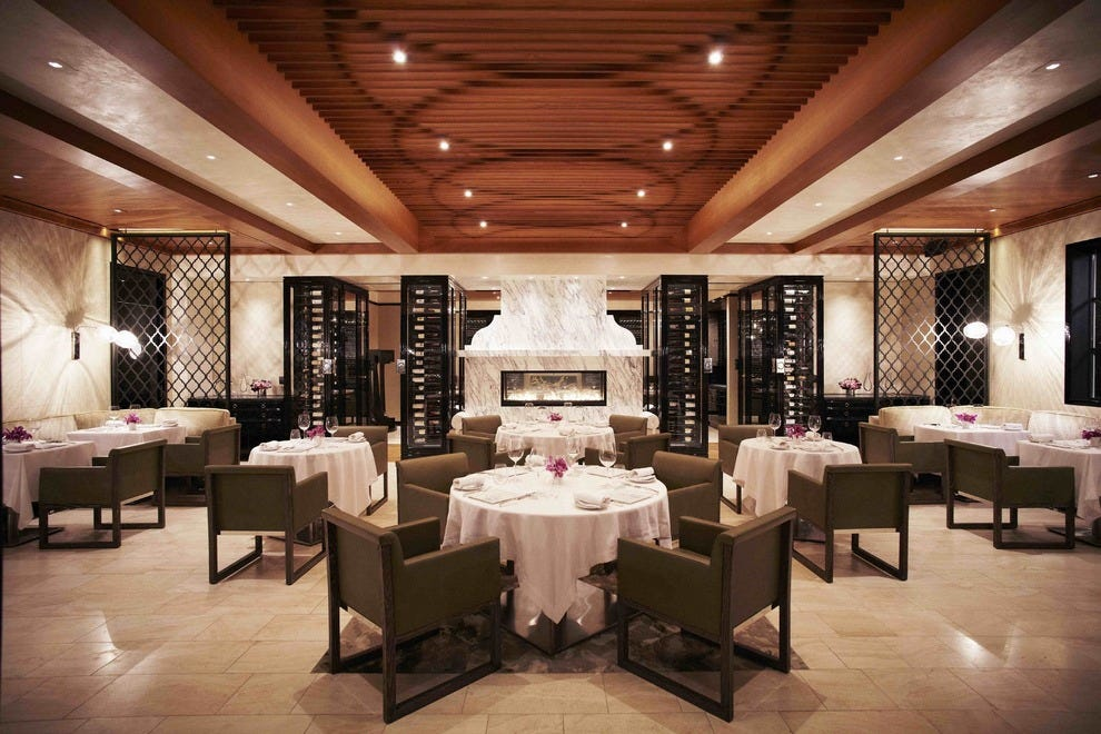 Gluten free fine dining for Best hotel dining rooms