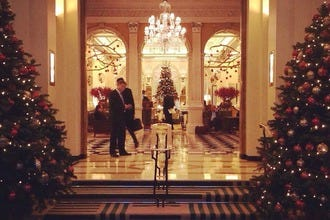 See the Dolce & Gabbana Christmas Tree at Claridge's Hotel