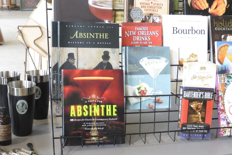 An absinthe-themed gift comes together at the Southern Food and Beverage Museum