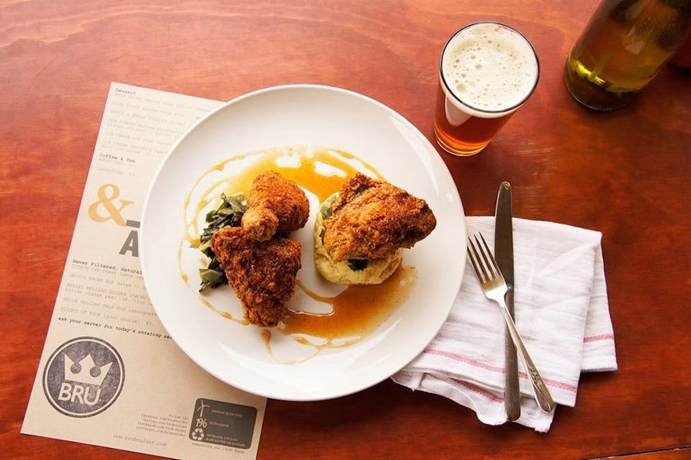 BRU perfectly pairs their unique beers with sumptuous menu options