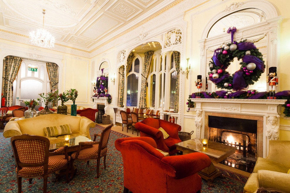 "The Drawing Room at Oakley Court Hotel is where the ""Time Warp"" dance was filmed in the Rocky Horror Picture Show."