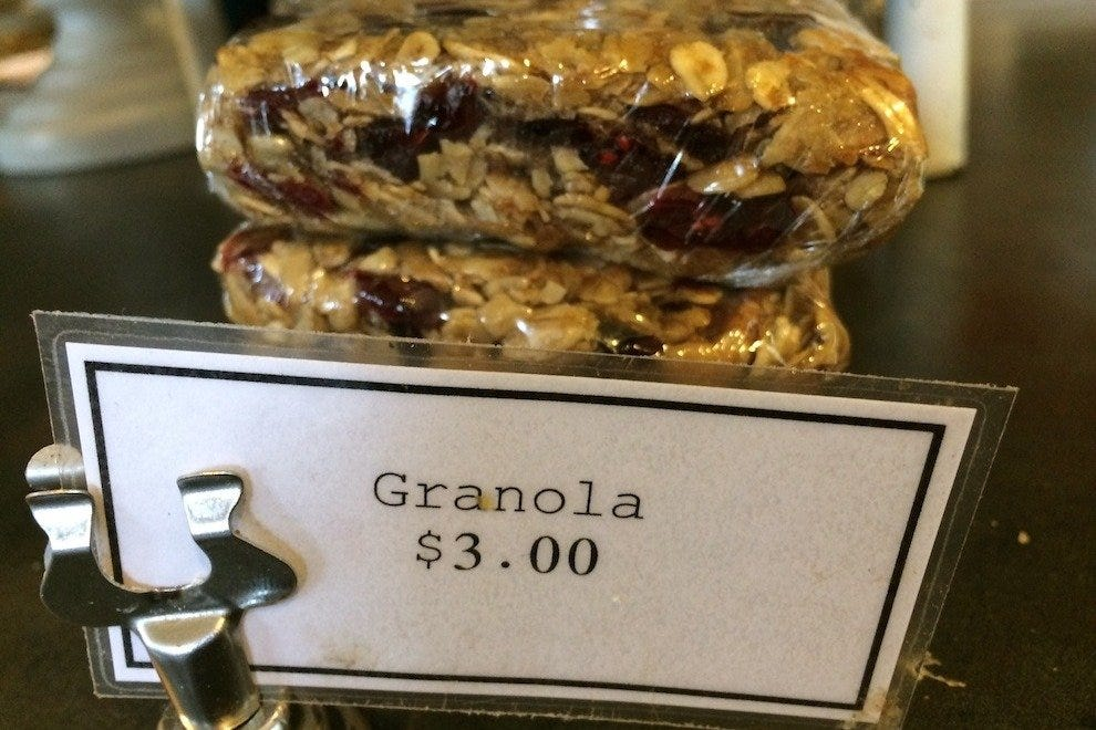 Housemade baked granola at WildFlour Pastry