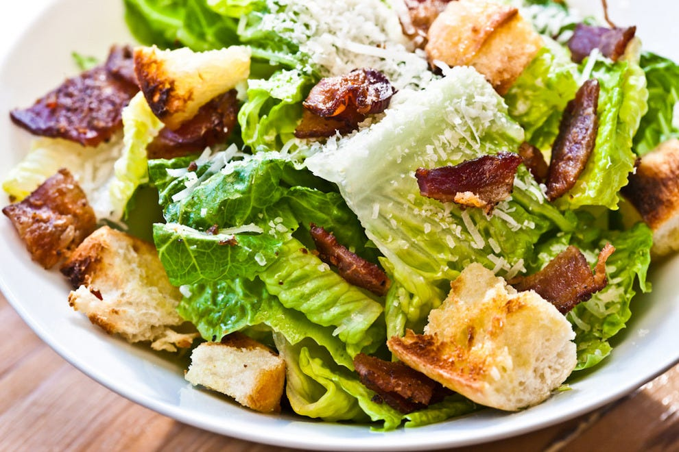Even the Caesar salad is redunkulous