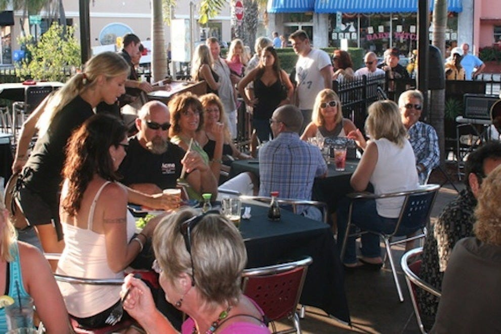 The patio at Matt's Casbah is a popular hangout in Melbourne