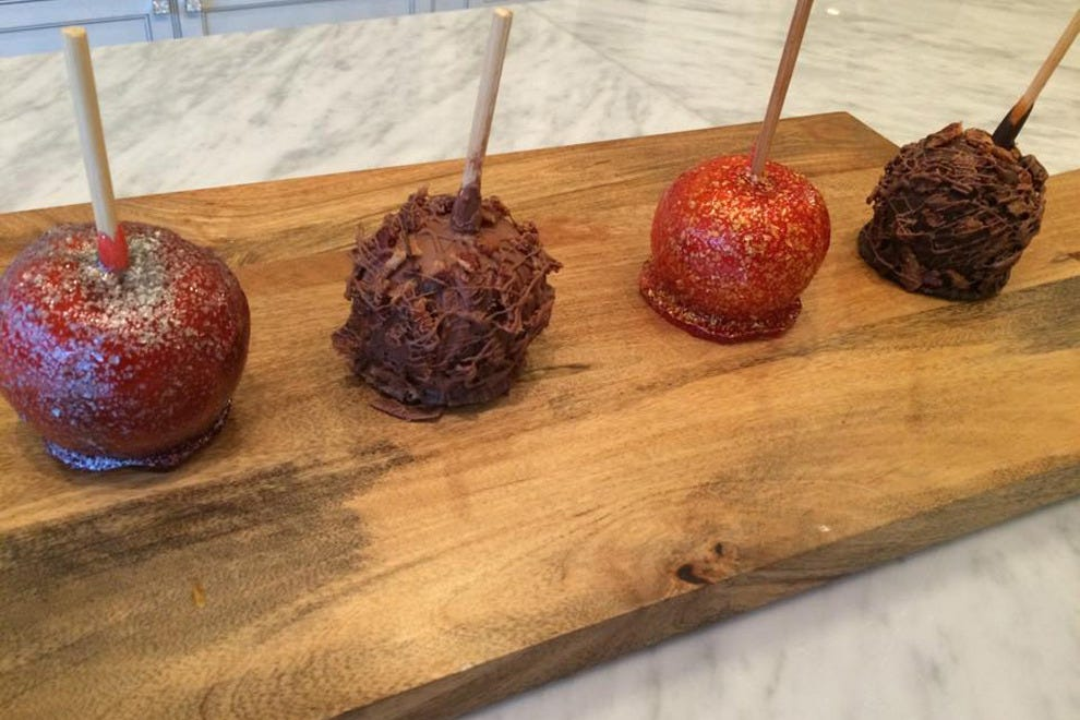 True to its name, The Candy Apple Cafe offers an entire line of gourmet candy apples