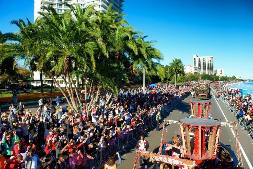 Kids of all ages love the brightly colored floats and costumed pirates at Tampa's Children's Gasparilla Parade