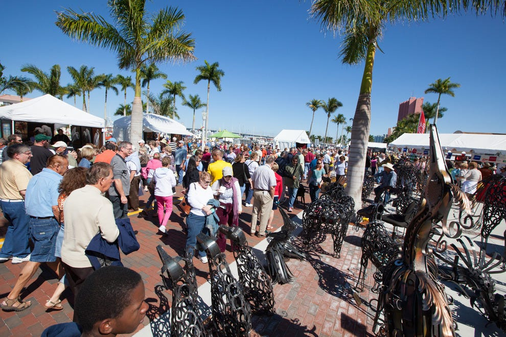 Some 60,000 people attend ArtFest each February in Fort Myers