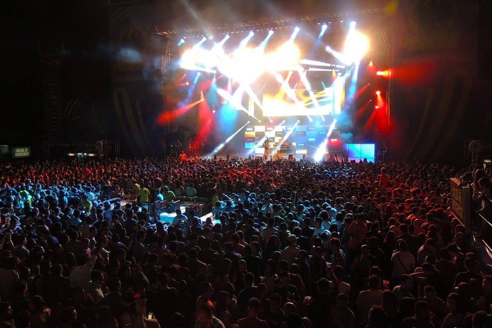 哥斯达黎加的嘉年华帕尔马雷斯音乐会
