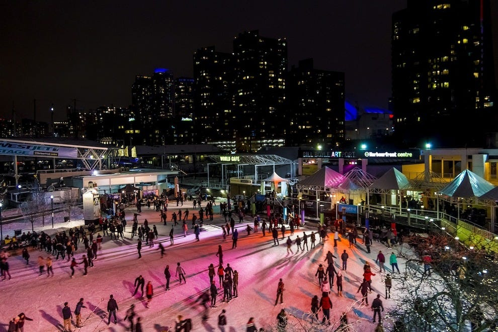 Harbourfront's DJ Skate Nights aren't a bad way to take in a spectacular city
