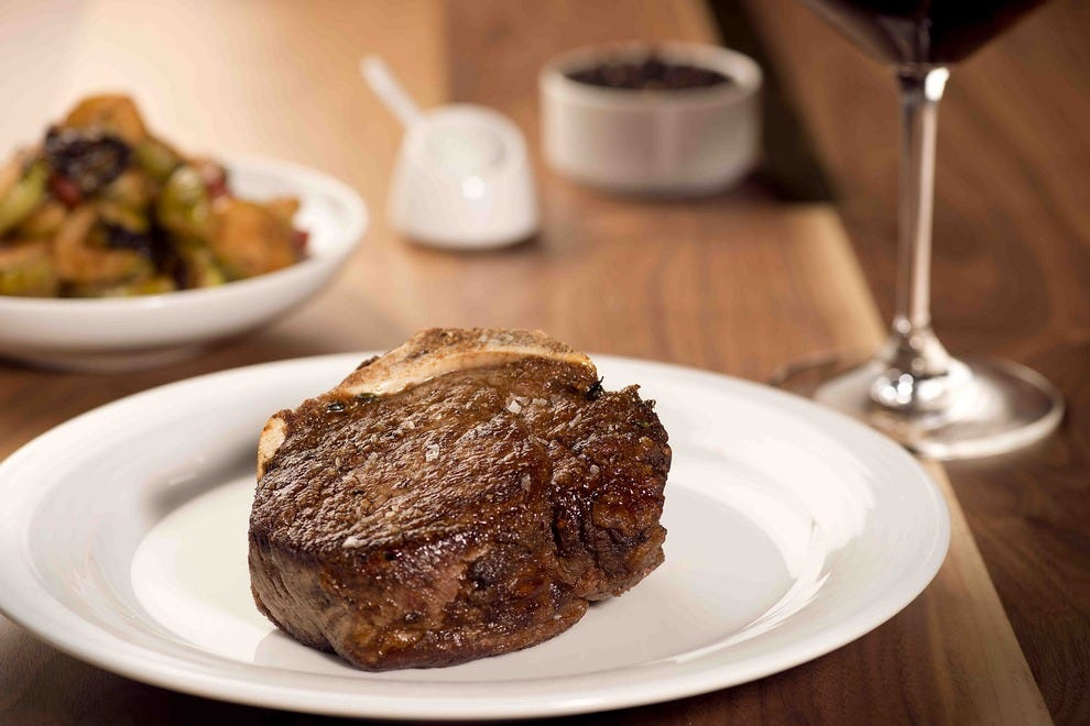 A luscious filet mignon steak at Chianina Steakhouse
