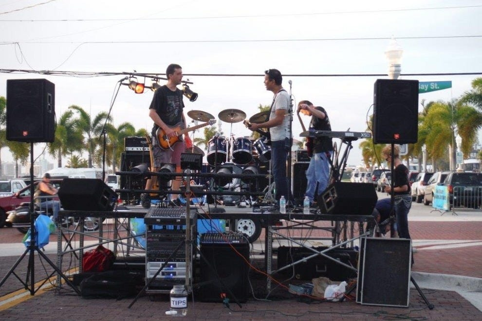 Live music features prominently at Fort Myers Bike Night