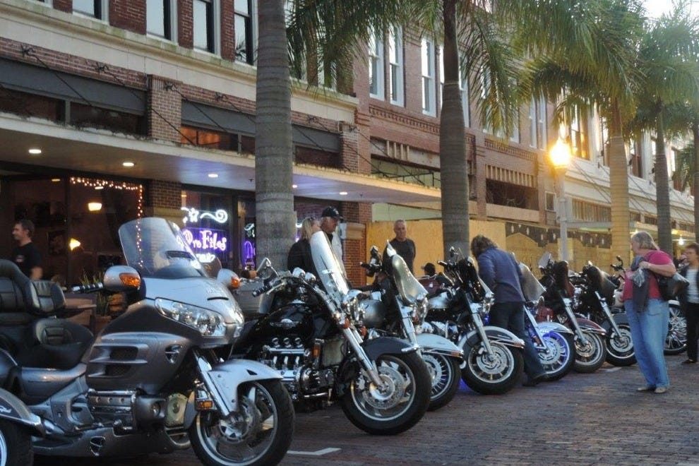 Thousands of motorcycles line the streets of downtown during Fort Myers Bike Night