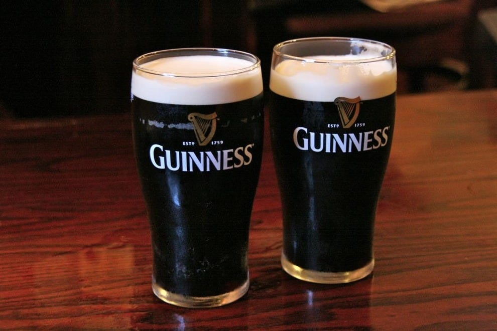 Guinness flows at The Fiddler's Elbow