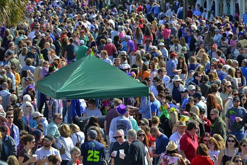 FollyGras 2014 brought thousands of Charleston area residents and visitors to Center Street at Folly Beach