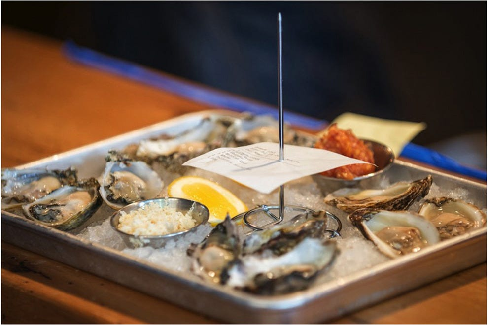 Oysters appear on several menus this year, including Cart-Drivers, participating for the first time in Denver's Restaurant Week