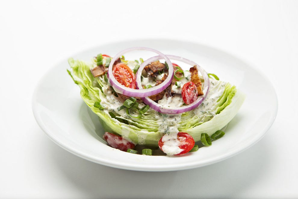 Some restaurants offer appetizers, while some – including Perry's Steakhouse & Grille – offer salad as one of the courses