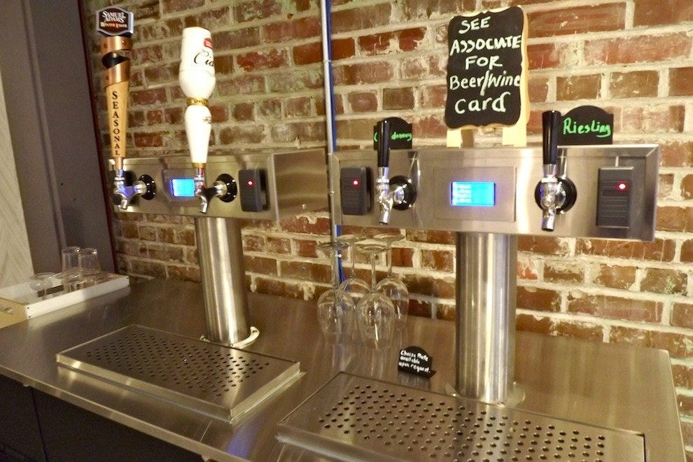 MOSA provides a unique shopping experience with their PourMyBeer tap system, serving up beer, wine and mimosas to guests