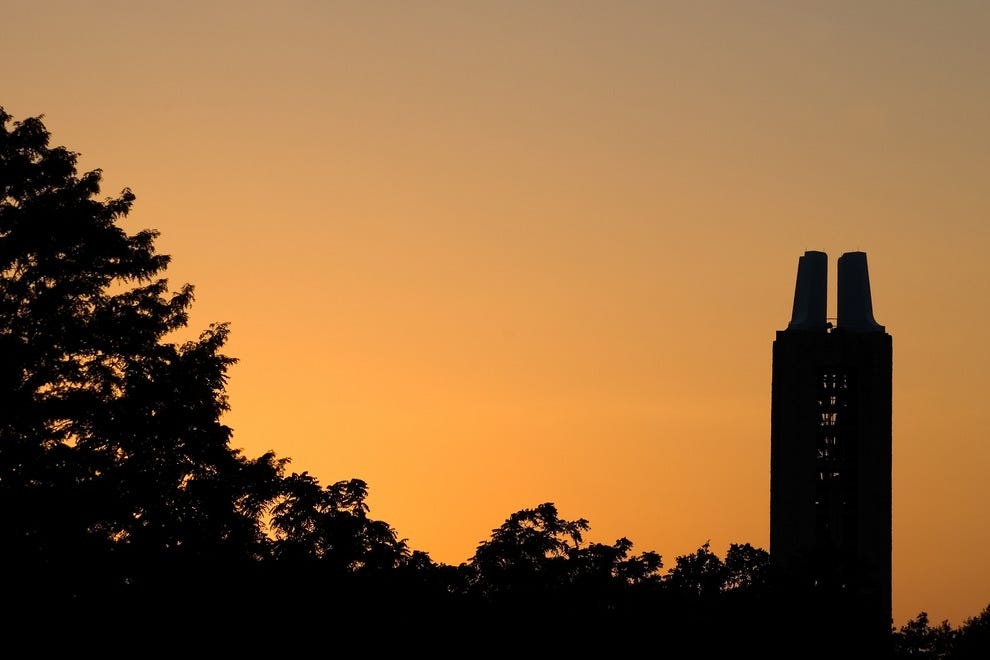 Watch the sunset over the University of Kansas campus