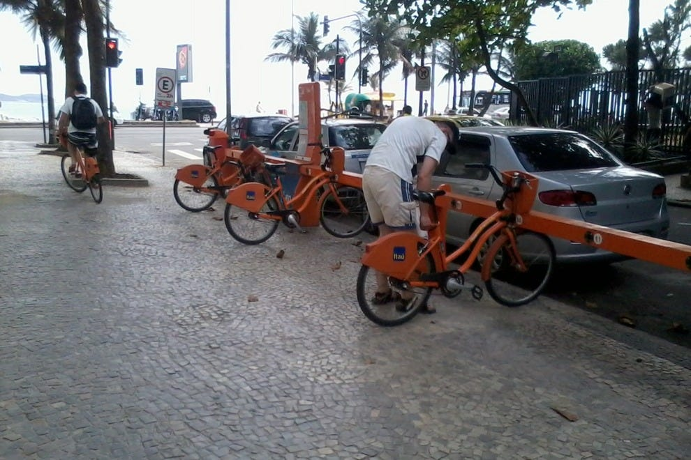 Bikes can be picked up from Bike Rio stations across Rio