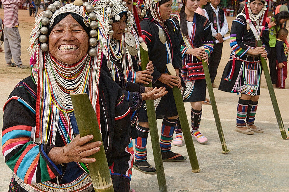 Akha celebration in Mae Salong