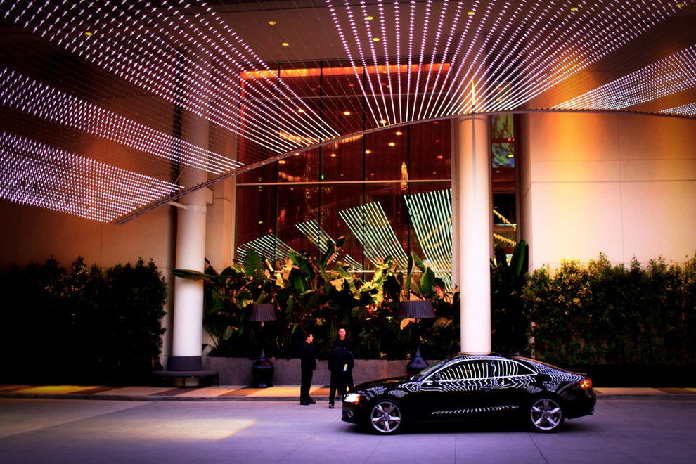 Valet parking at the W Hollywood