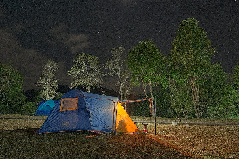 Bed under the stars, Phu Kha National Park