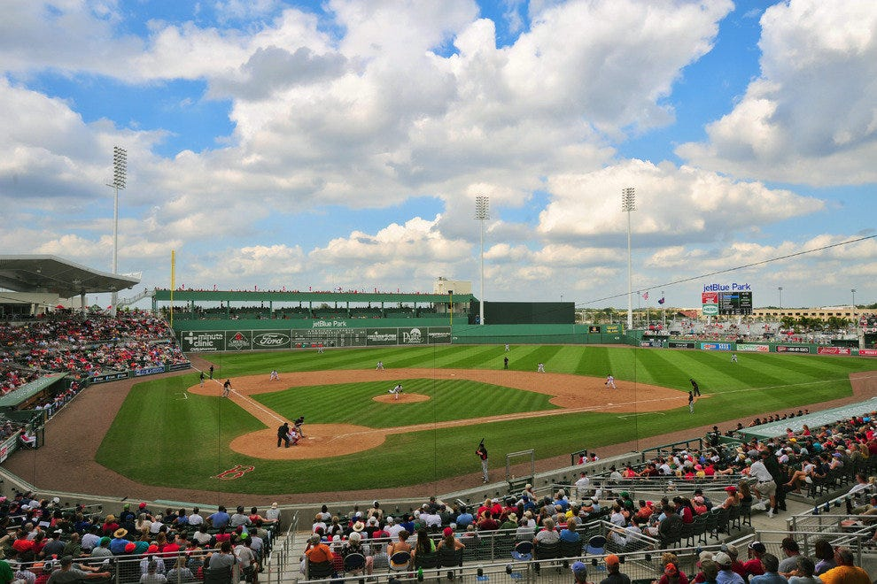 Jet Blue Stadium packs in Red Sox fans for spring training
