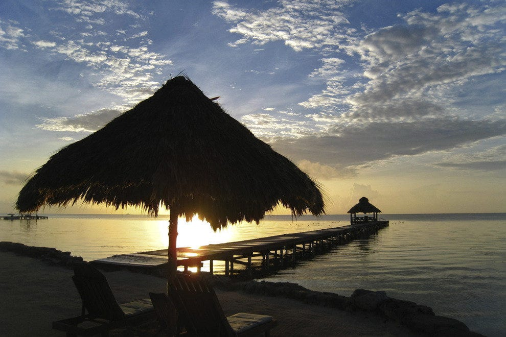 Sunset on Ambergris Caye