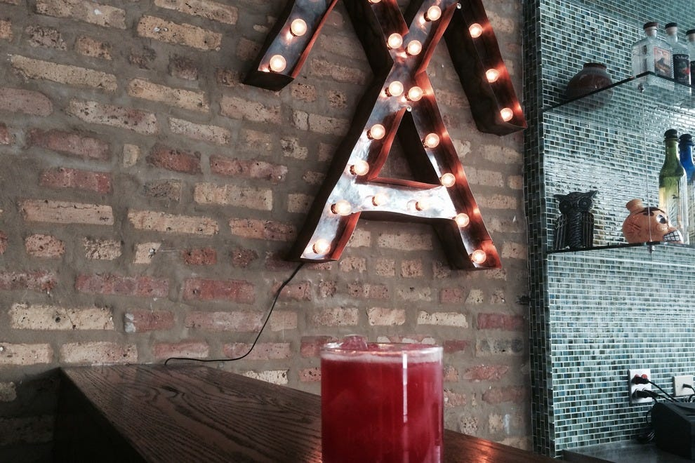Chicago barman Chris Neustadt will be shaking up these Silvercoin Blood Orange margaritas at Masa Azul