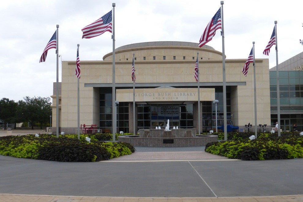 Entrance to the George Bush Presidential Library and Museum