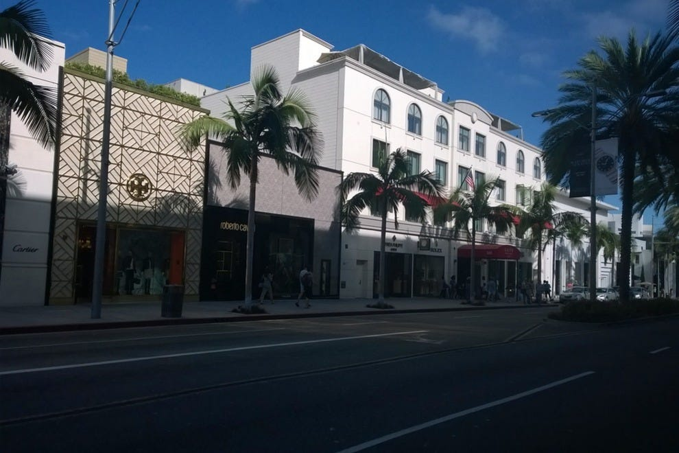 The iconic shopping on Rodeo Drive