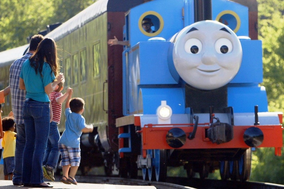 Climb aboard Thomas the Tank Engine at a special Day Out with Thomas event happening at the Gold Coast Railroad Museum