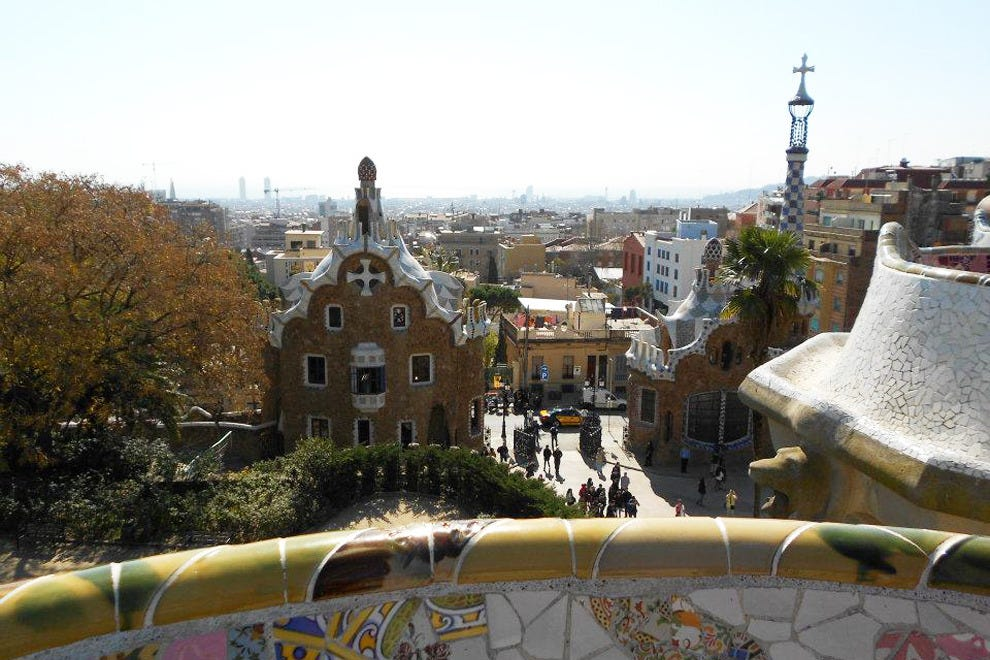 Explore Gaudí's colorful architecture at Park Güell
