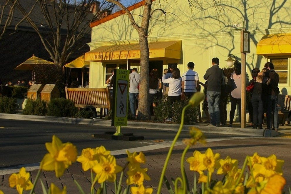Bouchon Bakery in Yountville will point the way to a famous neighbor; hop in line for their divine goodies.