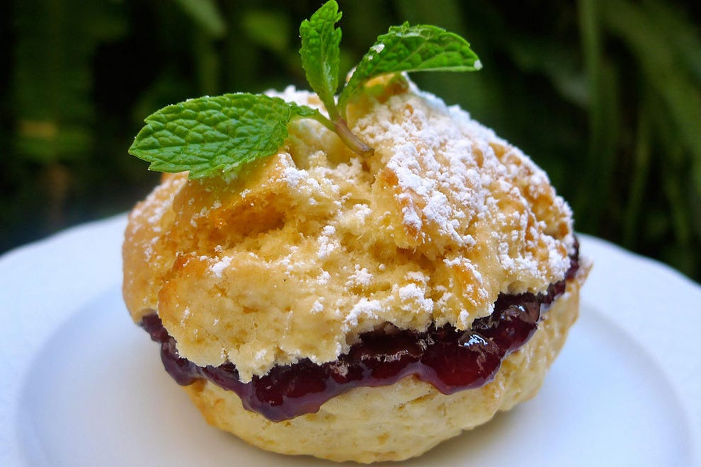 Very English! Royale's scones are served with butter and jams