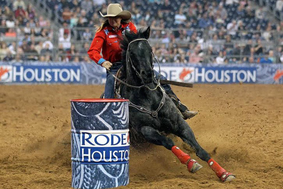 Barrel racing is one of the high level competitions on display at the Houston Rodeo.