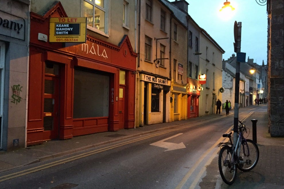 The streets of Galway, Ireland