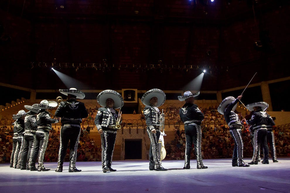 The mariachi band is part of the Intangible Cultural Heritage of Humanity by UNESCO