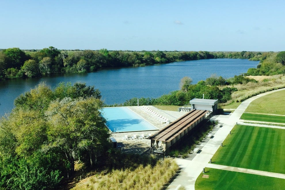 Streamsong has a pool, fitness center and hiking trails for those needing a break from the links