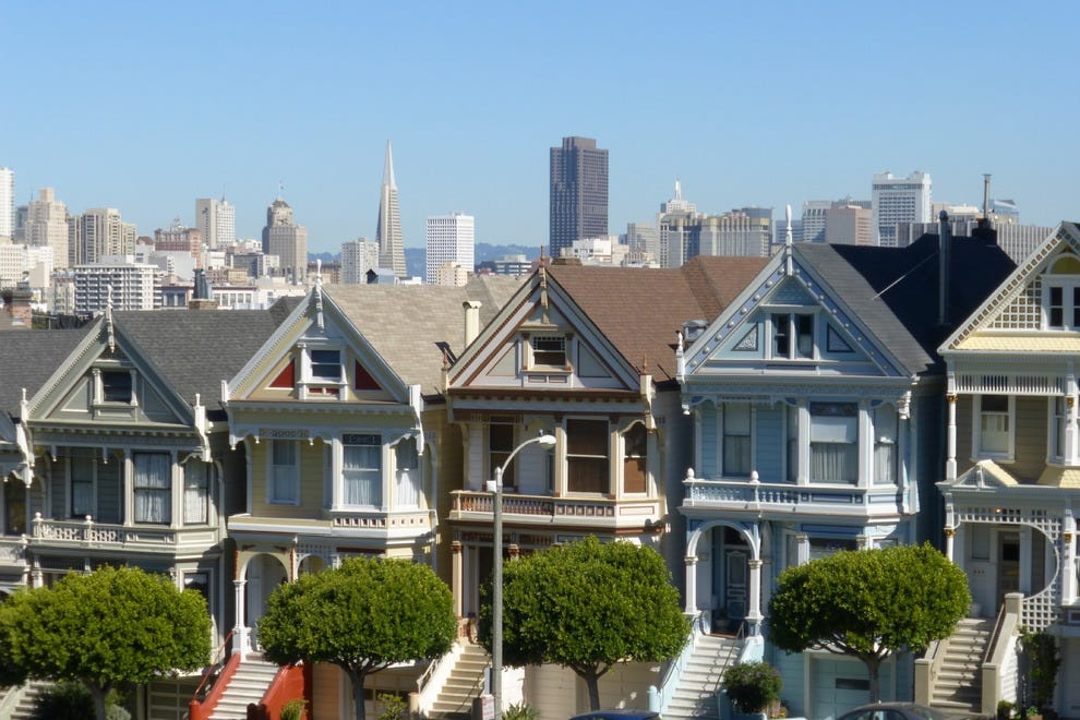 "San Franciso's famous ""Painted Ladies"""