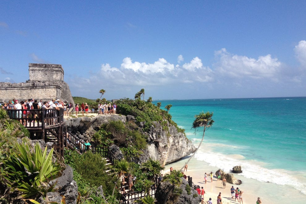 Tulum boasts ancient ruins overlooking the beaches